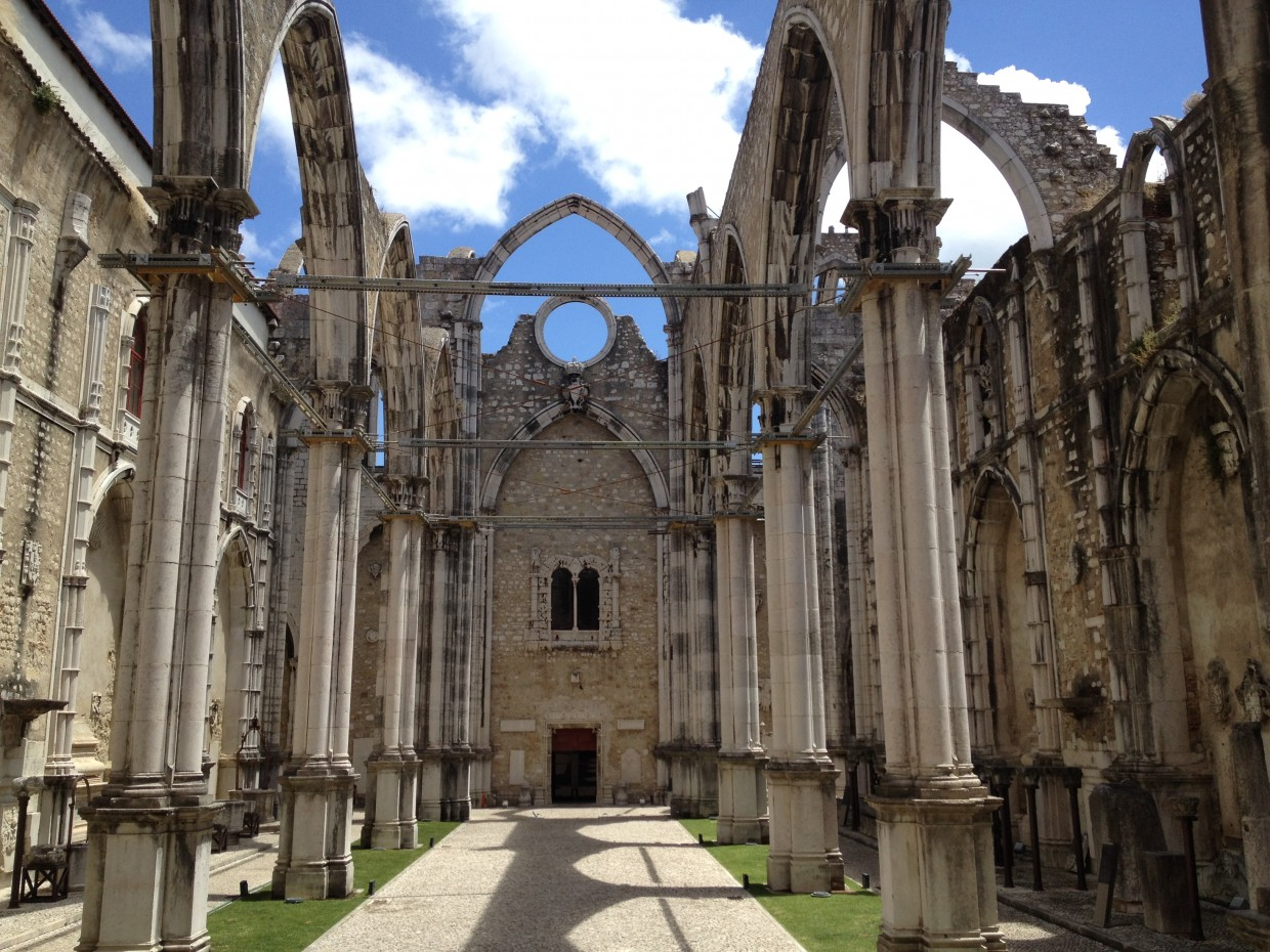 Ruins of the Carmo Convent in Lisbon, Portugal
