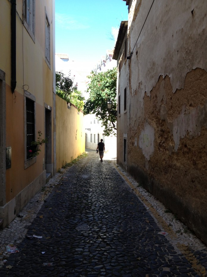 Small Cobbled Street Lisbon
