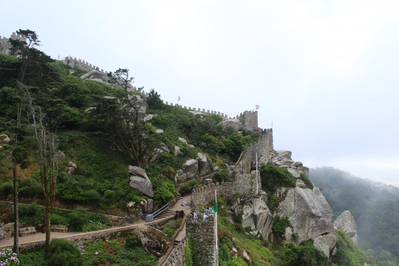 Sintra castle wall