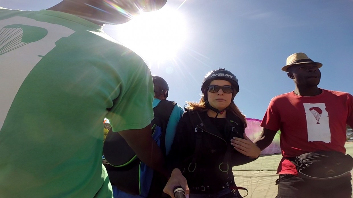 Paragliding scared
