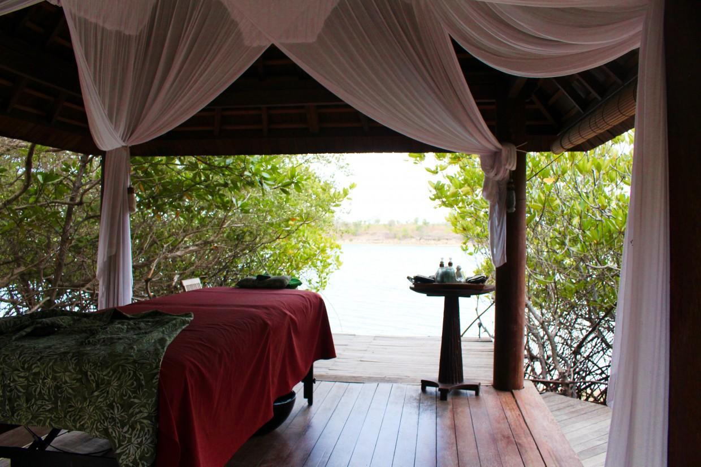 Massage table at the Menjangan Resort, Bali