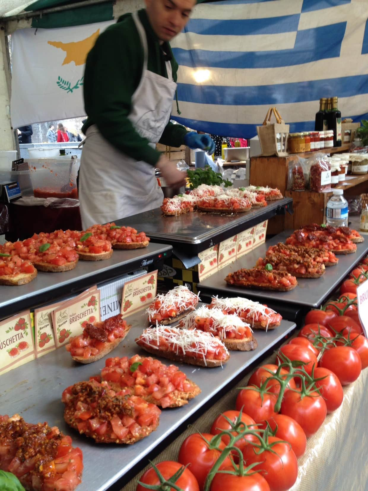 Real food market stall London