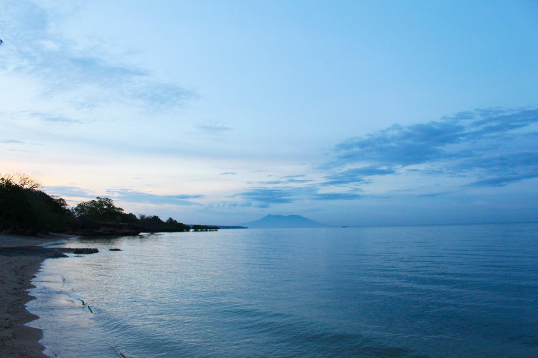 Sunset at beach in Bali