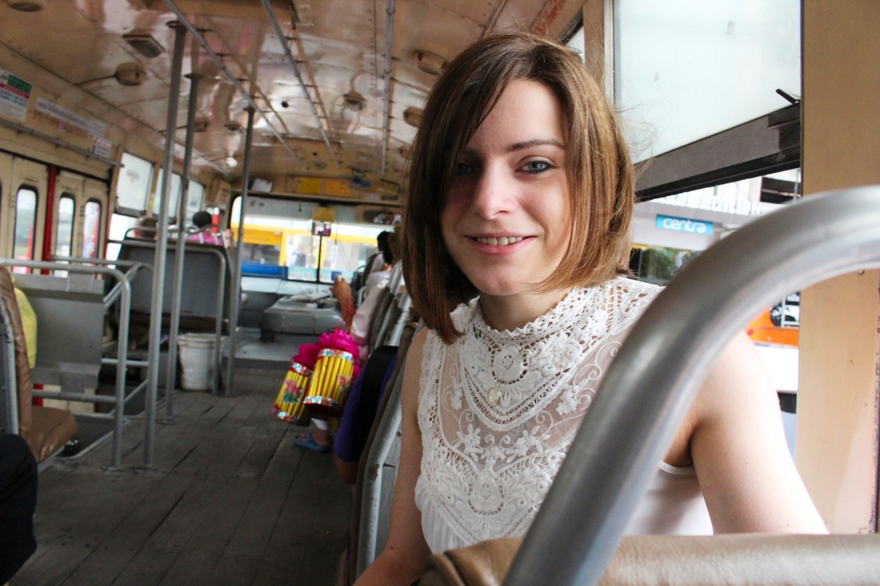 Me on the public bus in Bangkok