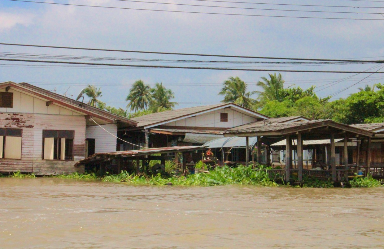 Houses along the Chao Phraya river, Bangkok