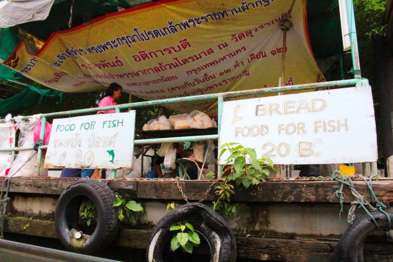 Bread stall on the Phraya river, Bangkok