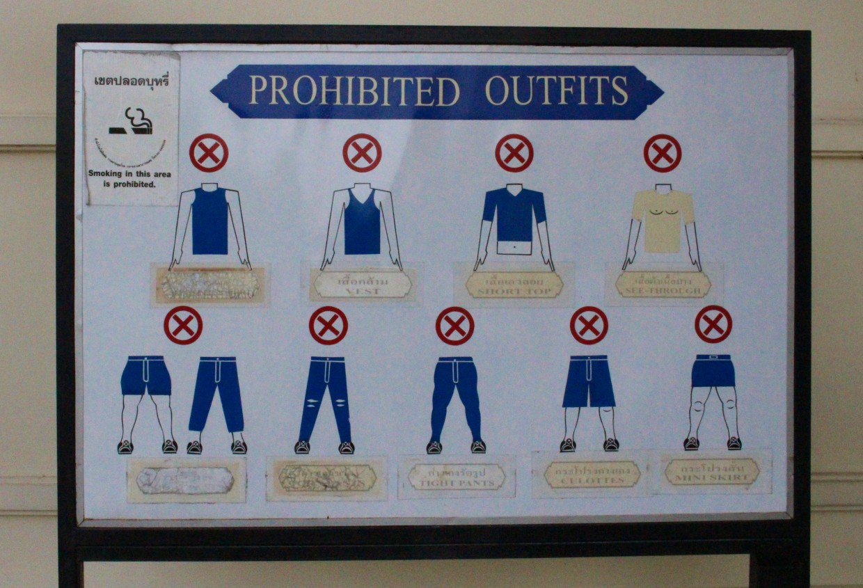 What not to wear to the Grand Palace
