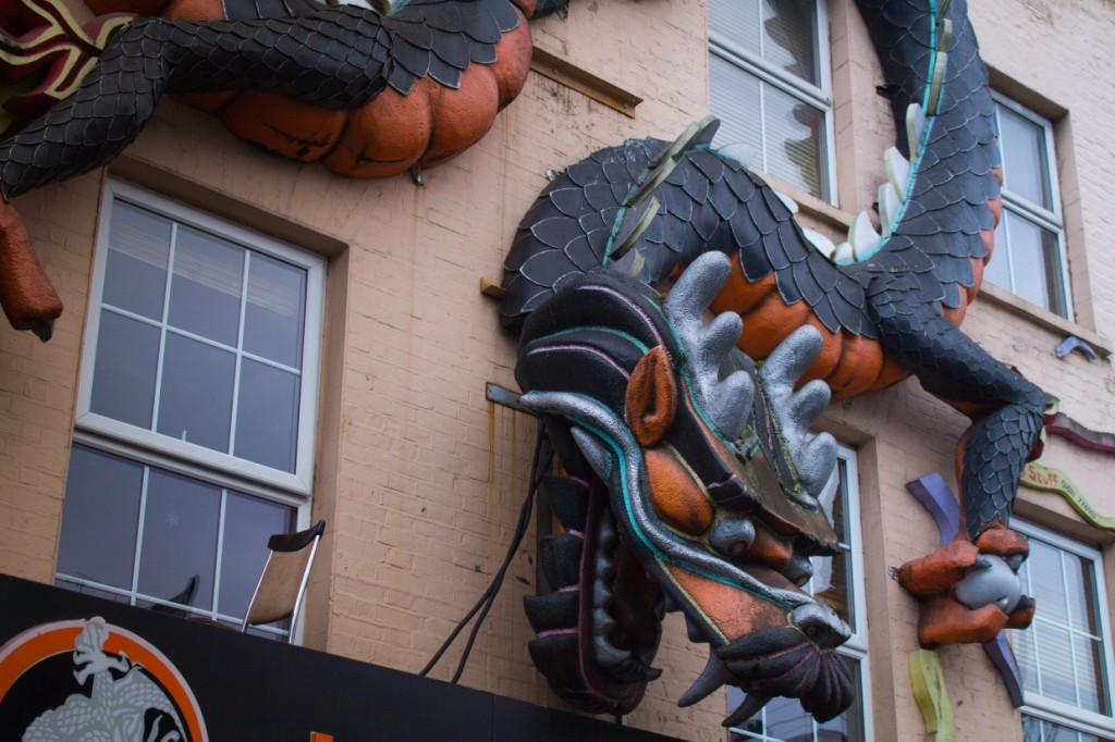 Dragon on wall, Camden