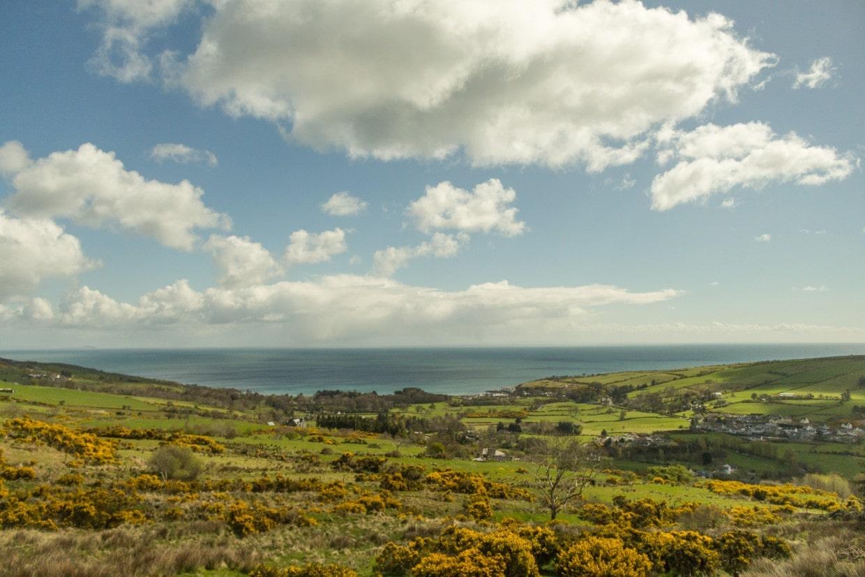 Coast landscape Northern Ireland
