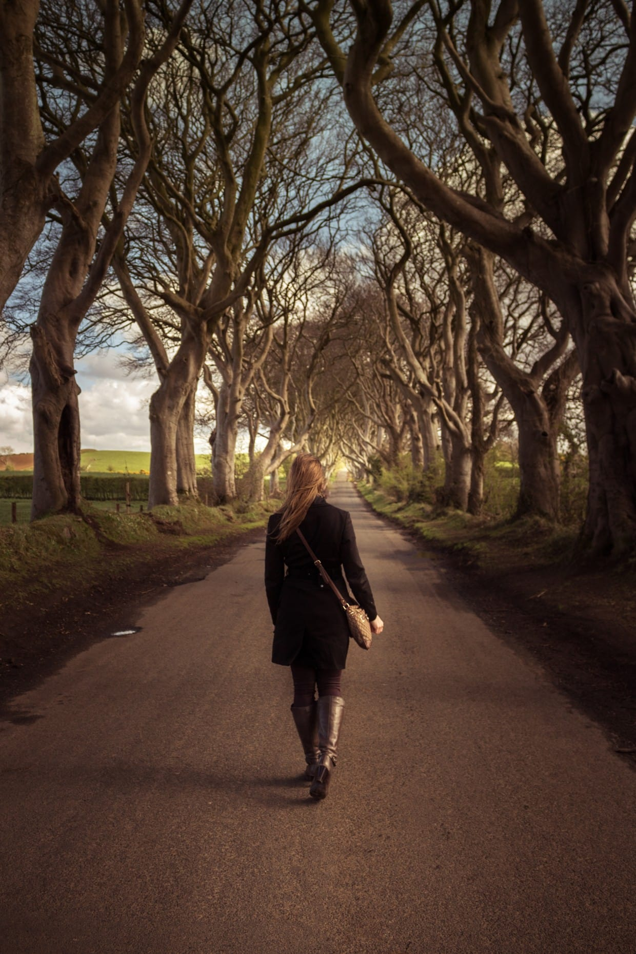 Me walking under the dark hedges, Northern Ireland