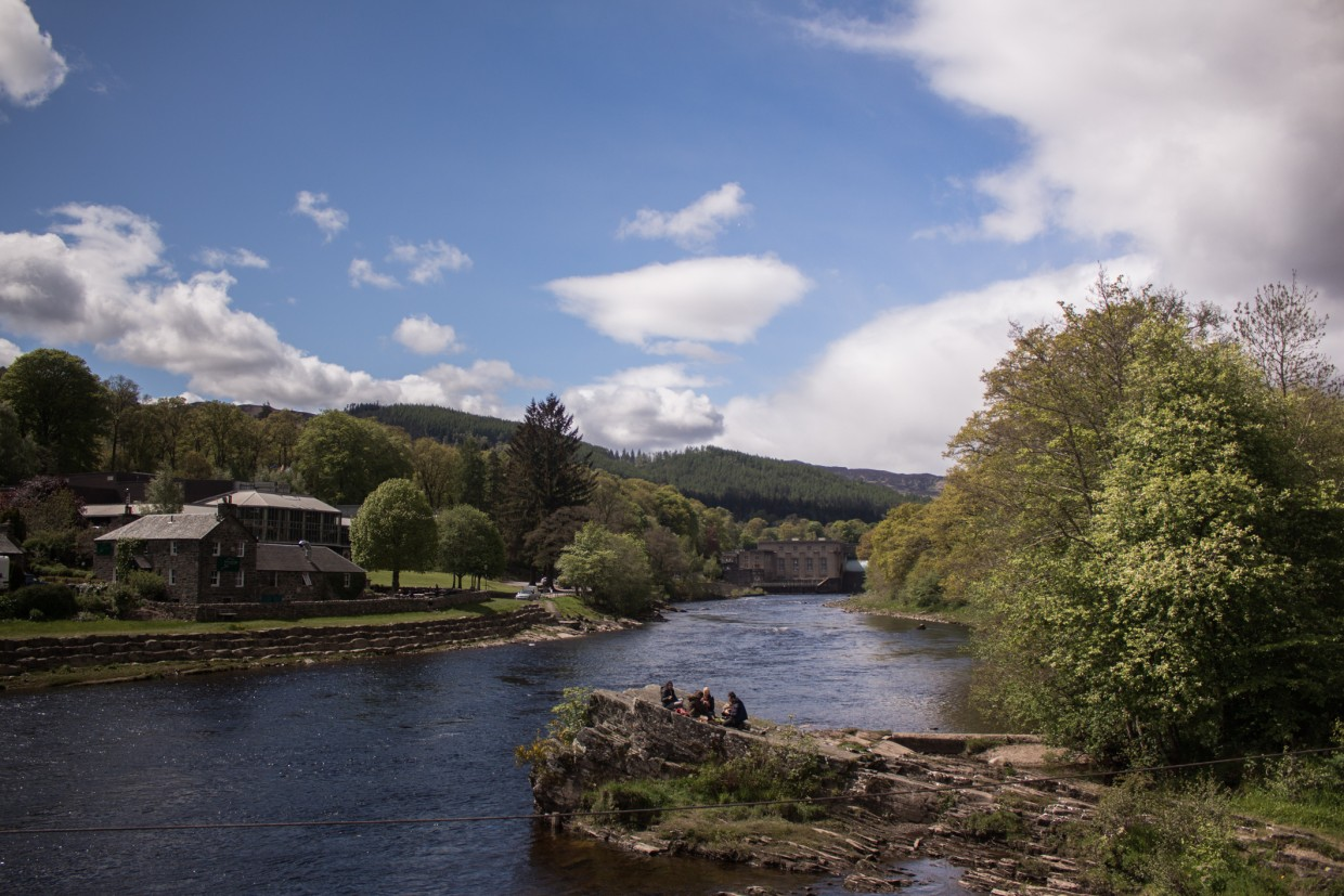 Pitlochry in Scotland
