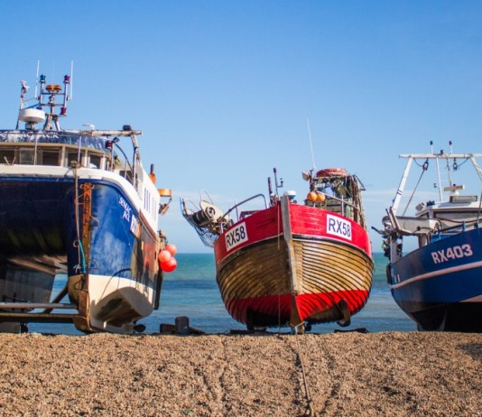 Boats in Hastings