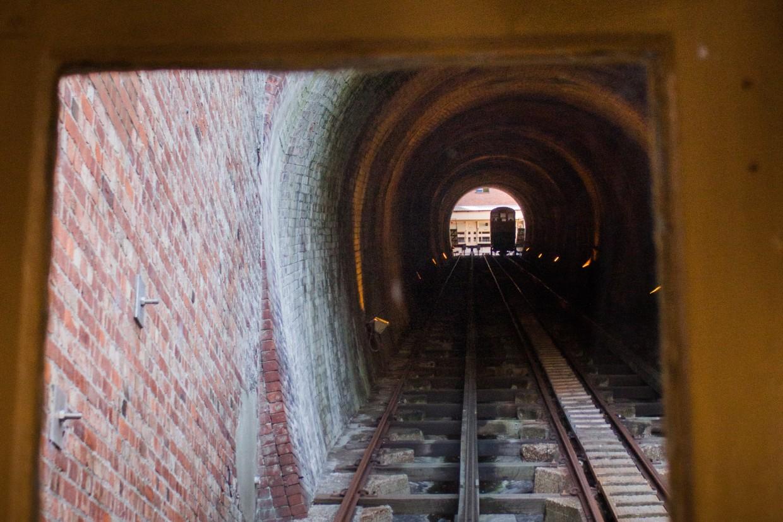Funicular tunnel