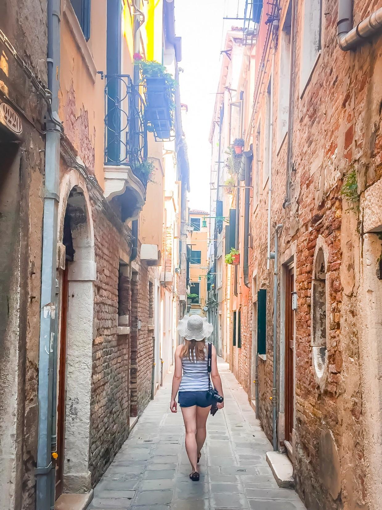 Small streets in Venice