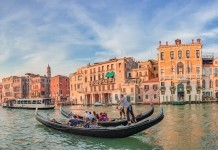 Venetian gondola, Italy