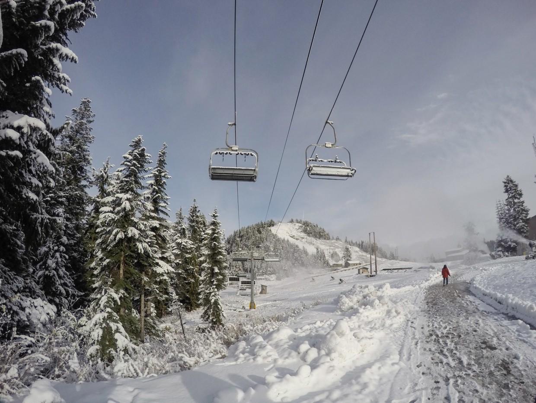 Ski lifts on Grouse Mountain