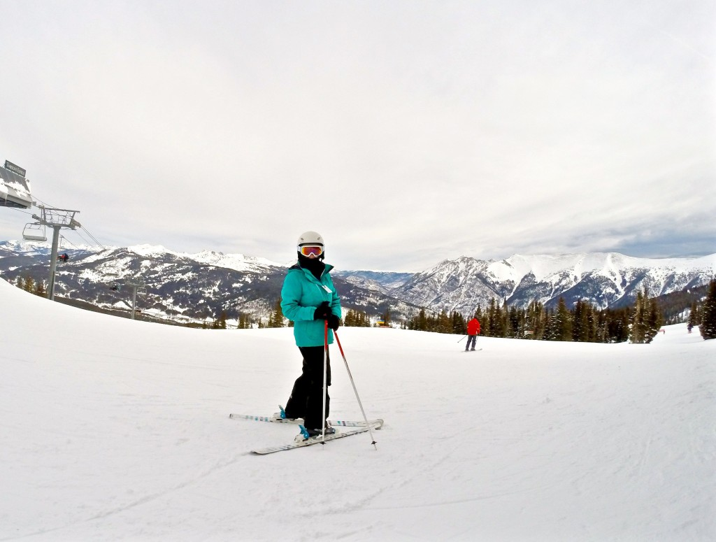 First time on the slope: Skiing in Colorado