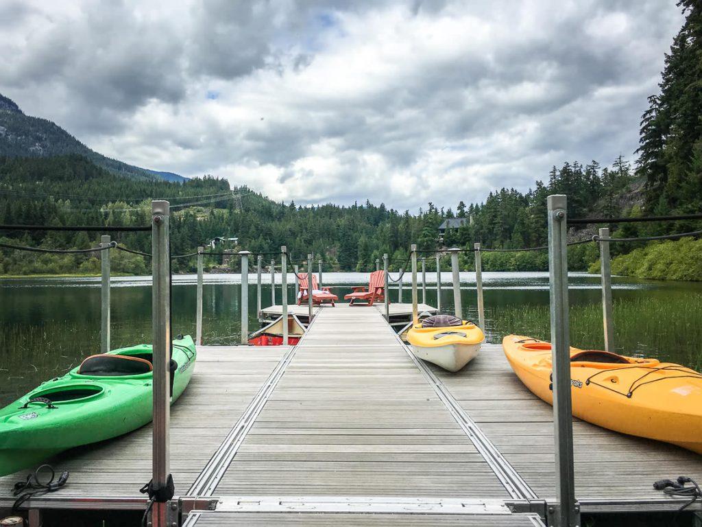 Kayaks at Nita Lake