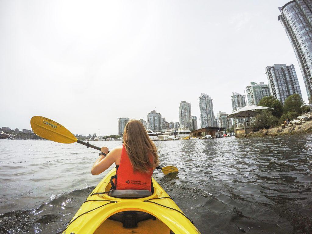 Kayaking False Creek top 7 outdoor activities in Vancouver