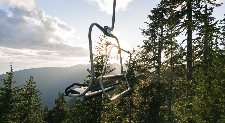 Chair on the ski lift Grouse Mountain
