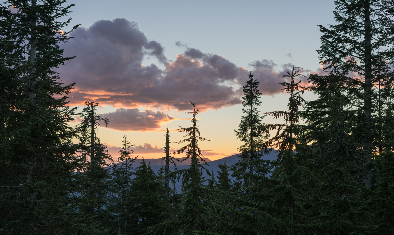 Sun set on Grouse Mountain