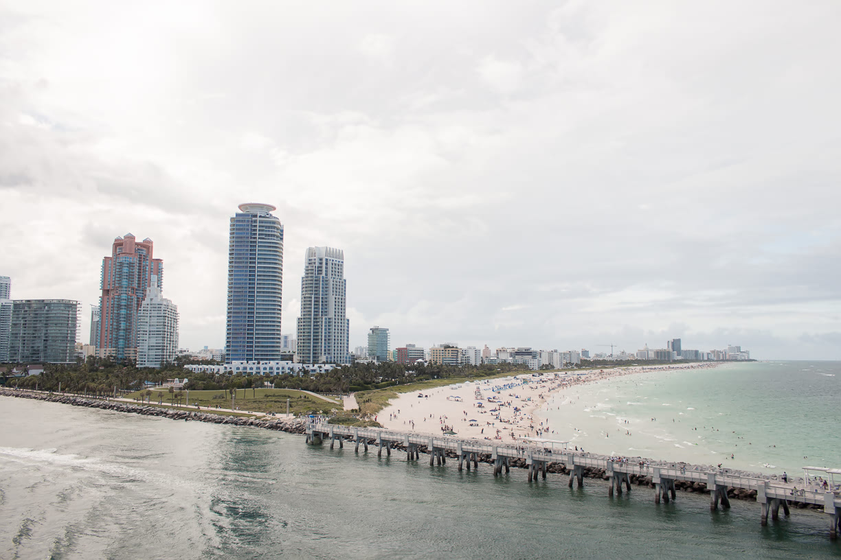 Miami Beach view from Fathom Adonia
