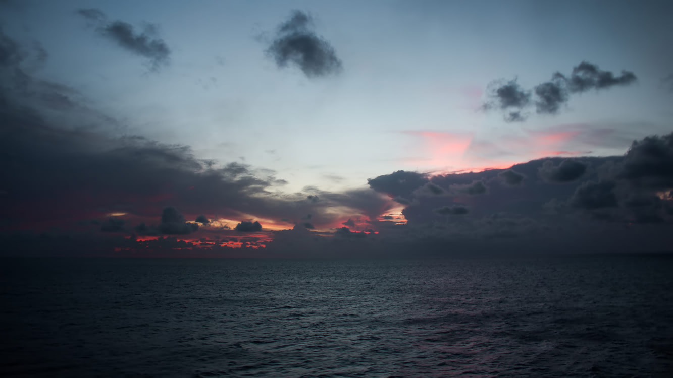 Night at sea on the Adonia