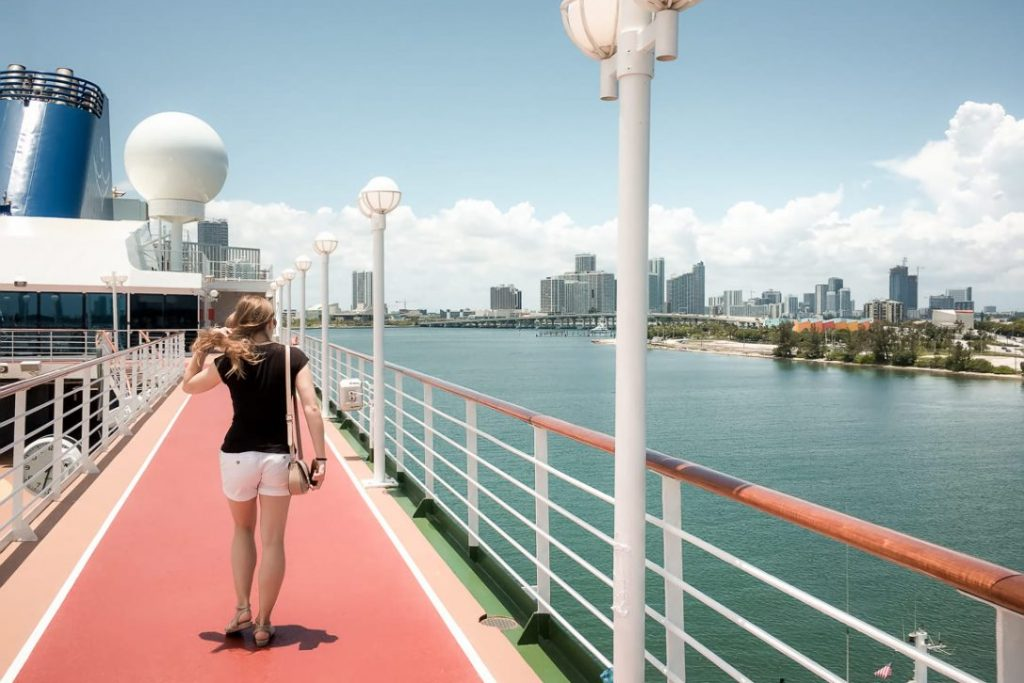 Walking on the deck of the Adonia