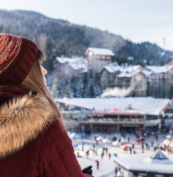 Looking out over Whistler