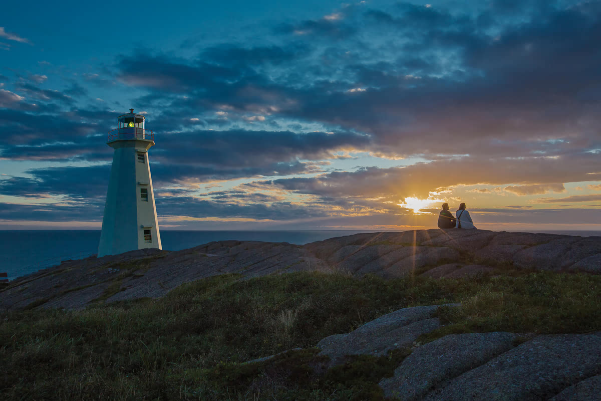 Sunrise at Cape Spear Lighthouse National Historic Site, Avalon