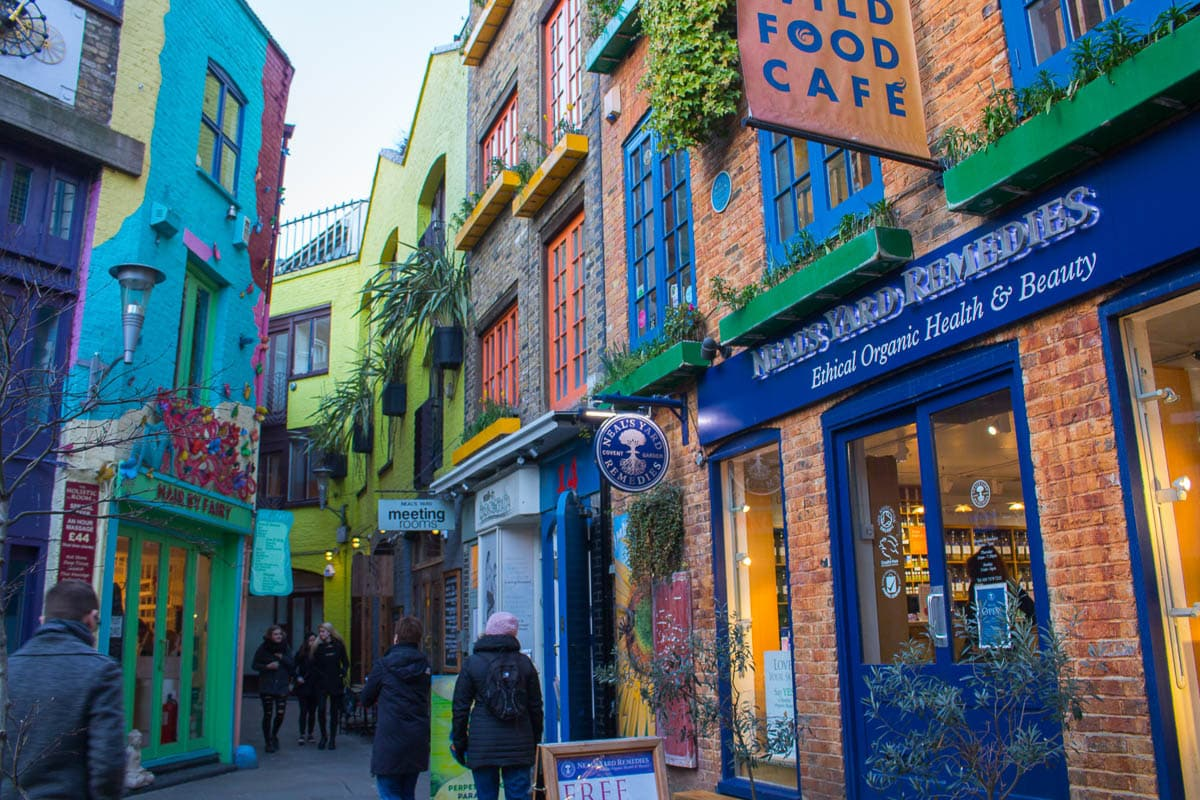cool places in London Neils Yard street