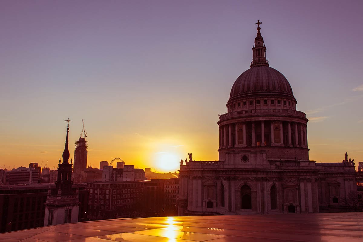 St Pauls sunset London Hidden Gems