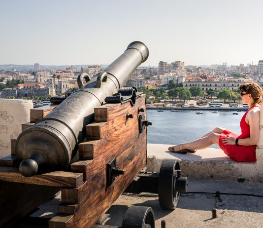 Castillo de la Real Fuerza canons Havana Cuba