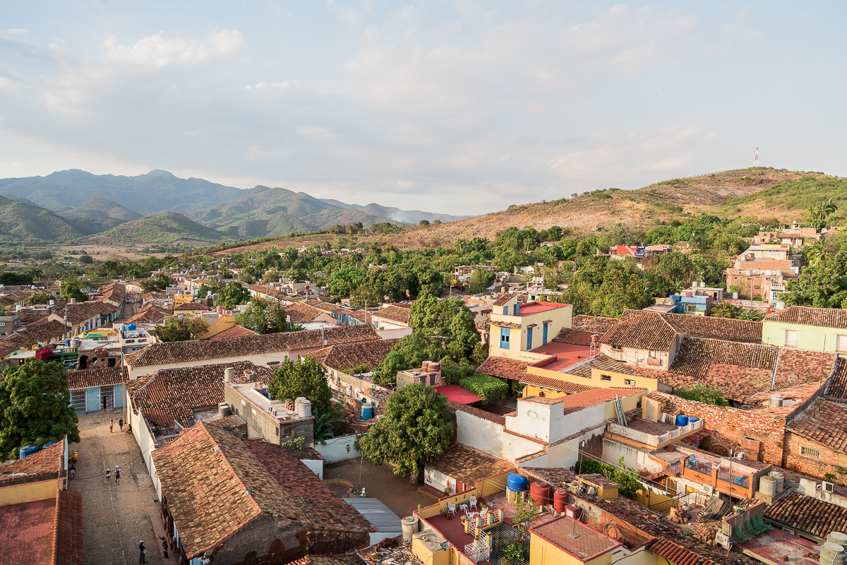 Trinidad sunset view 2 week Cuba itinerary