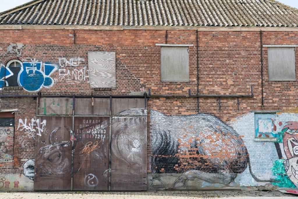 Doel street art Belgie