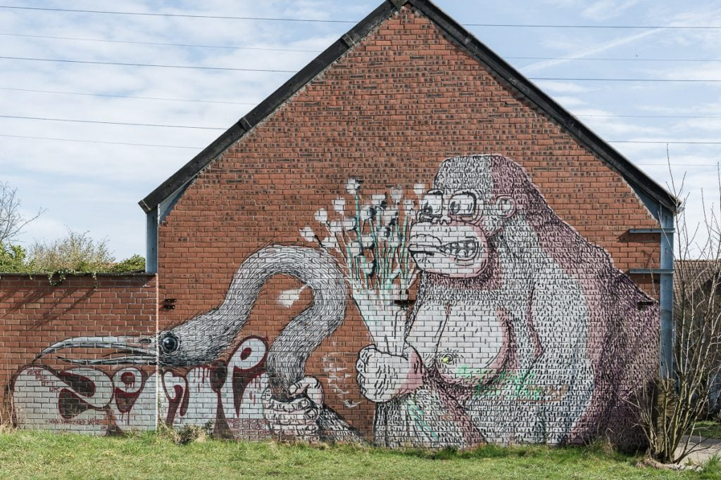 Street art on houses Doel