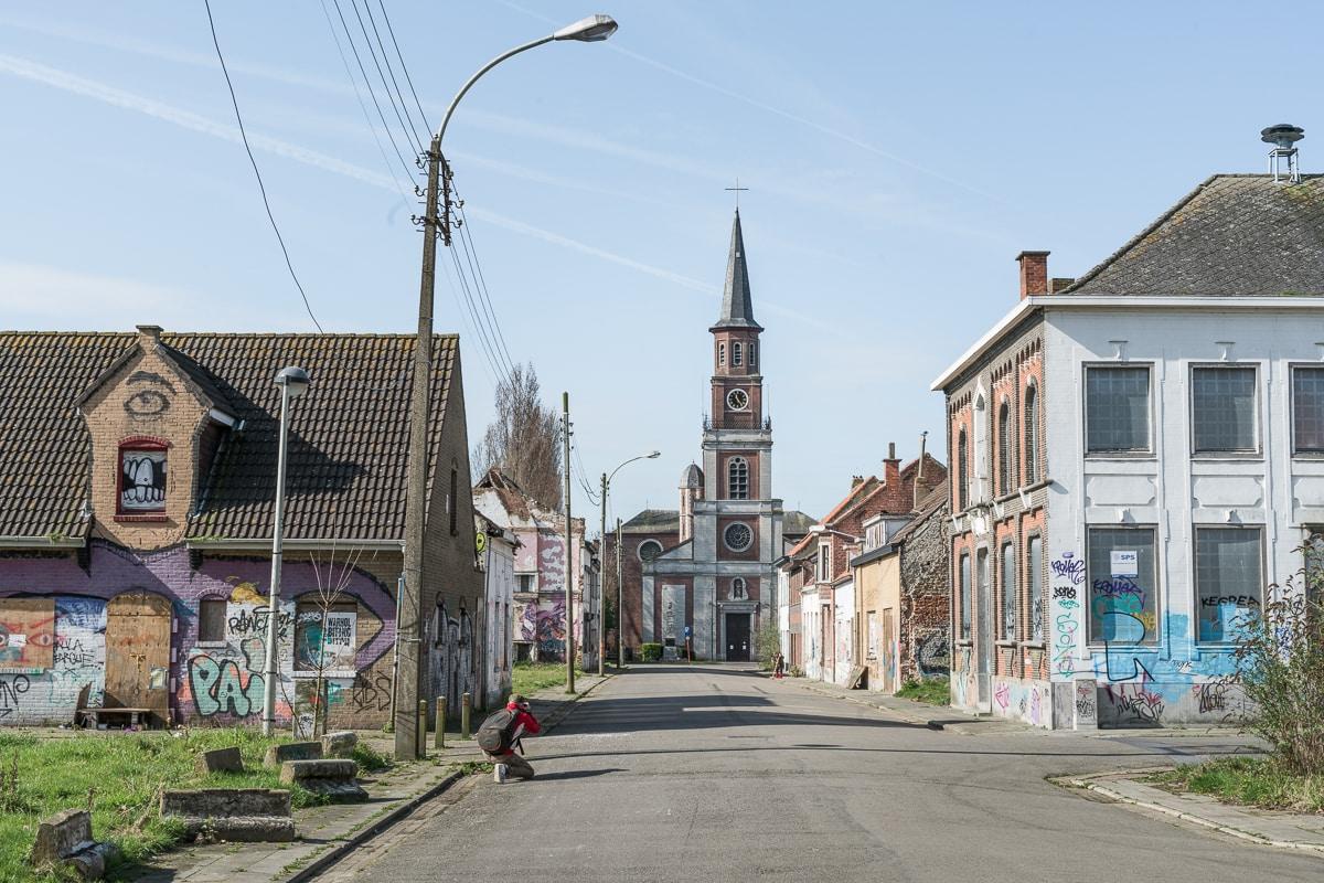 Street in Doel Belgium