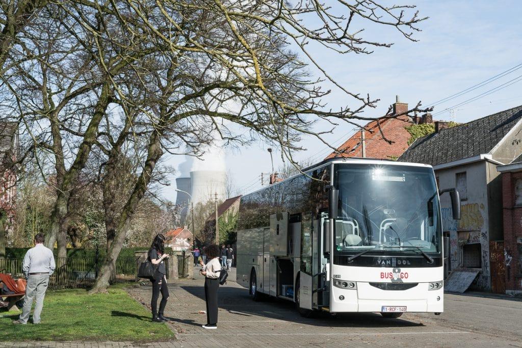 Visitors in Doel Belgium
