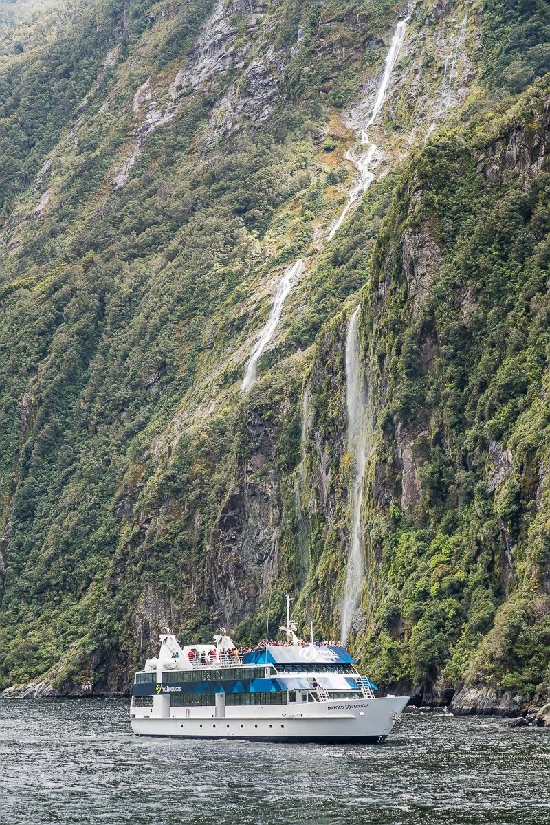 Milford Sound Waterfalls New Zealand