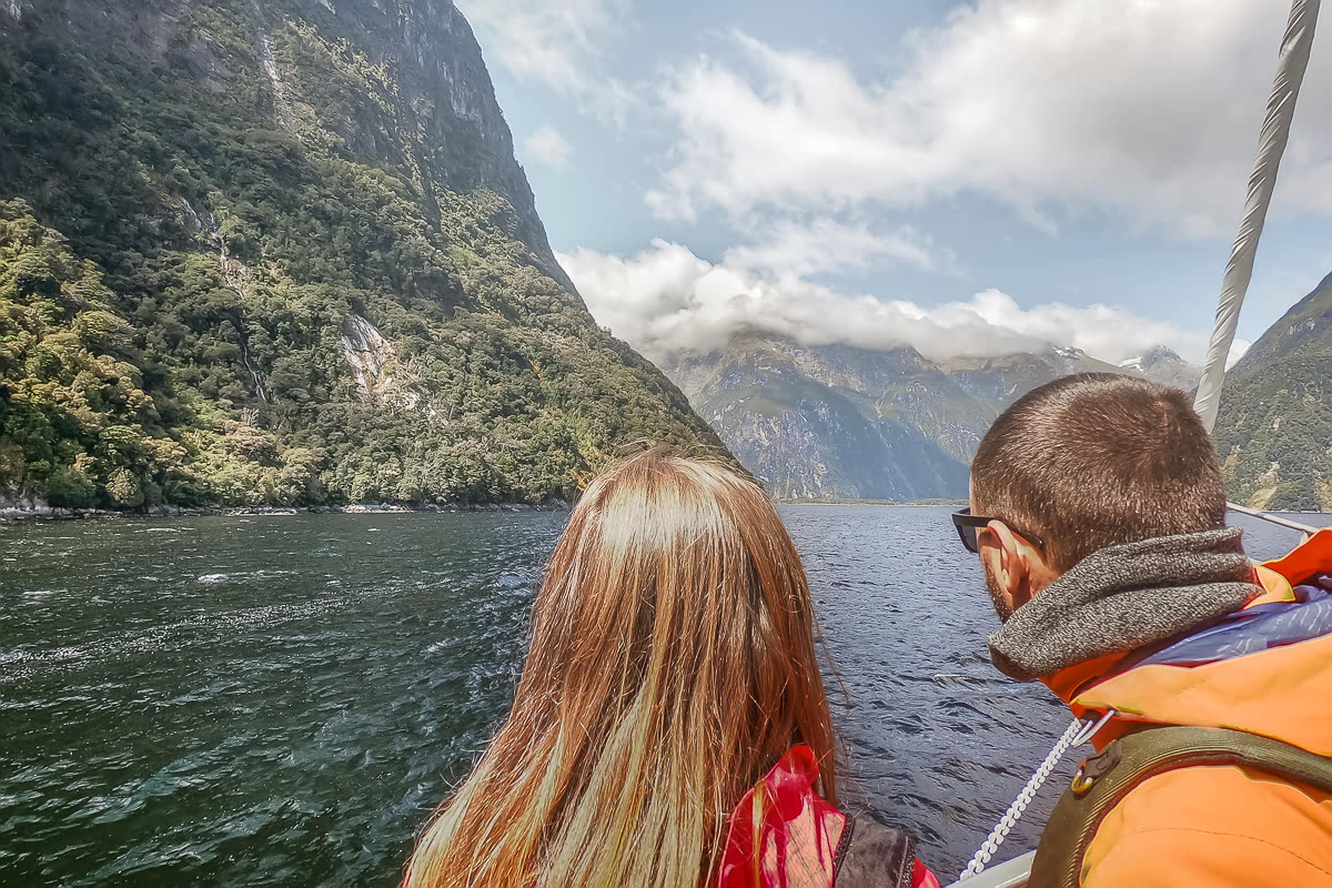 On the ship in Milford Sound
