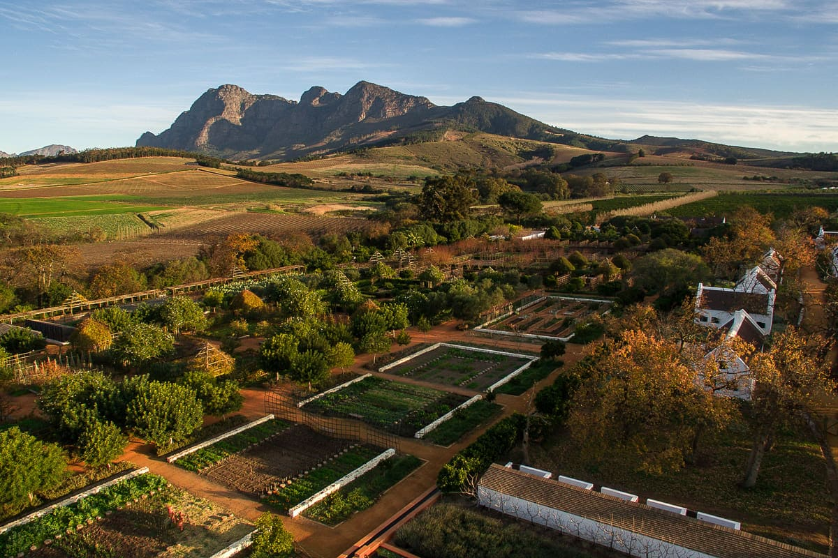 Babylonstoren view of gardens