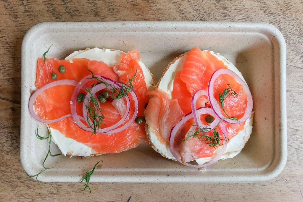 King Salmon bagel at Ugly Bagels