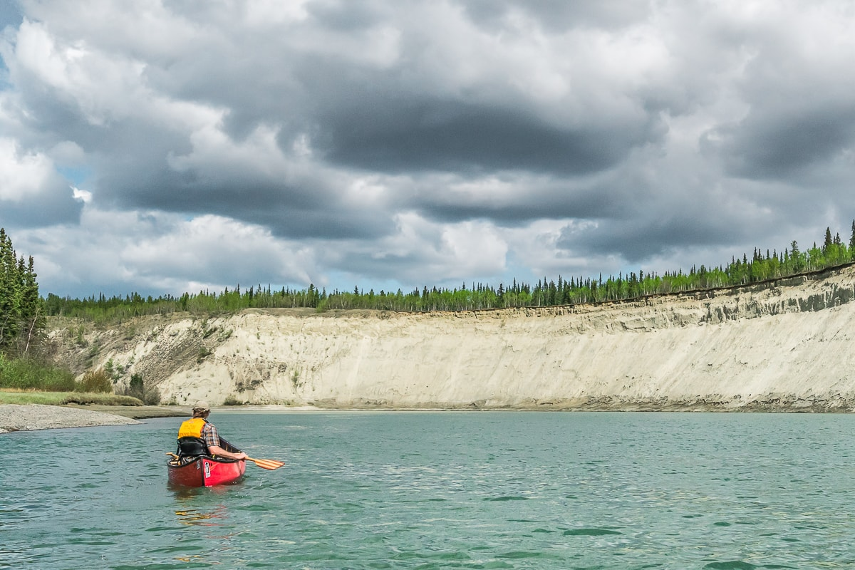 Canoe on the Yukon River Yukon itinerary