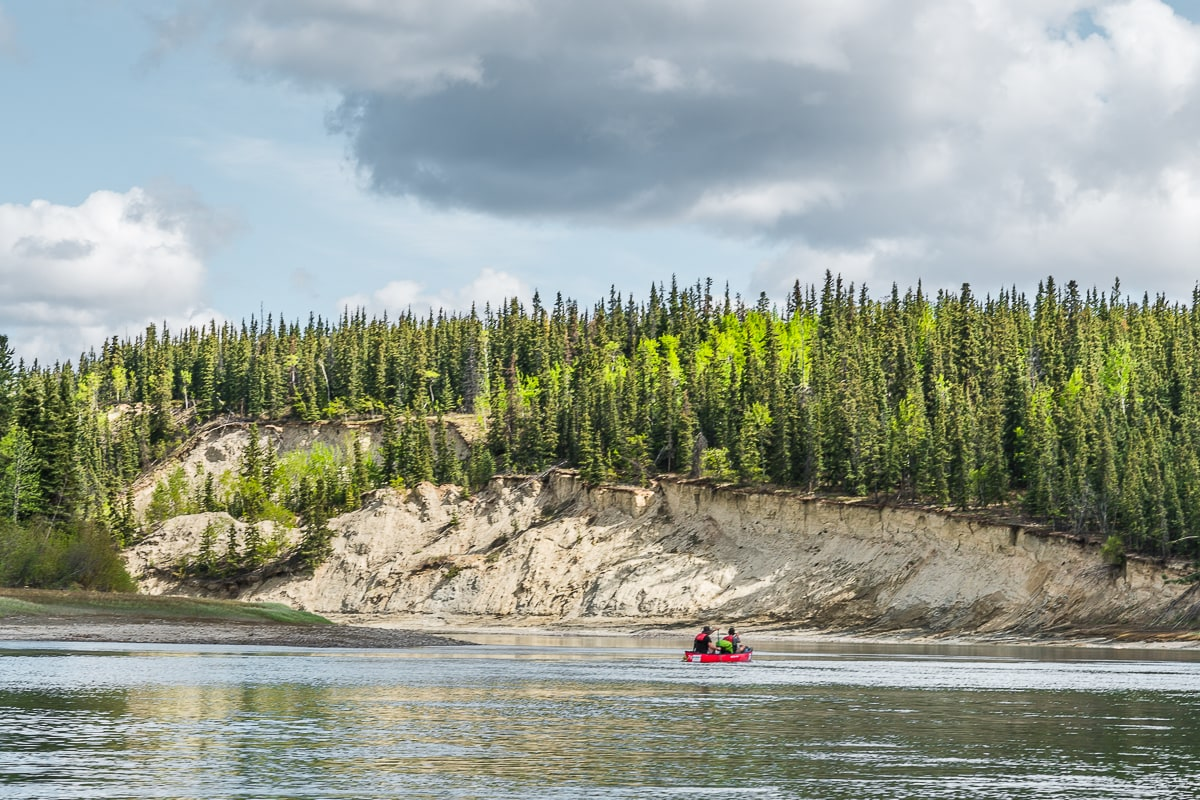 canoeing the Yukon River