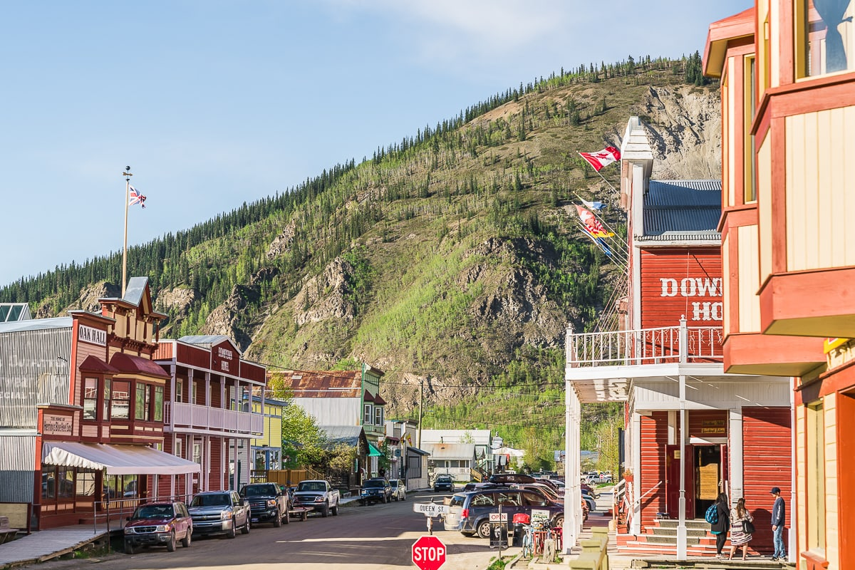 Dawson city street one week Yukon